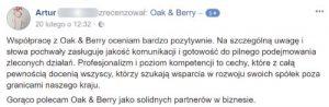 Oak and Berry Opinie Klientów 1