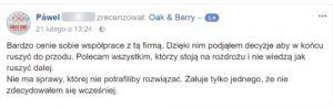 Oak and Berry Opinie Klientów 2