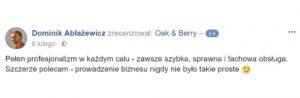 Oak and Berry Opinie Klientów 3