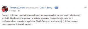 Oak and Berry Opinie Klientów 4