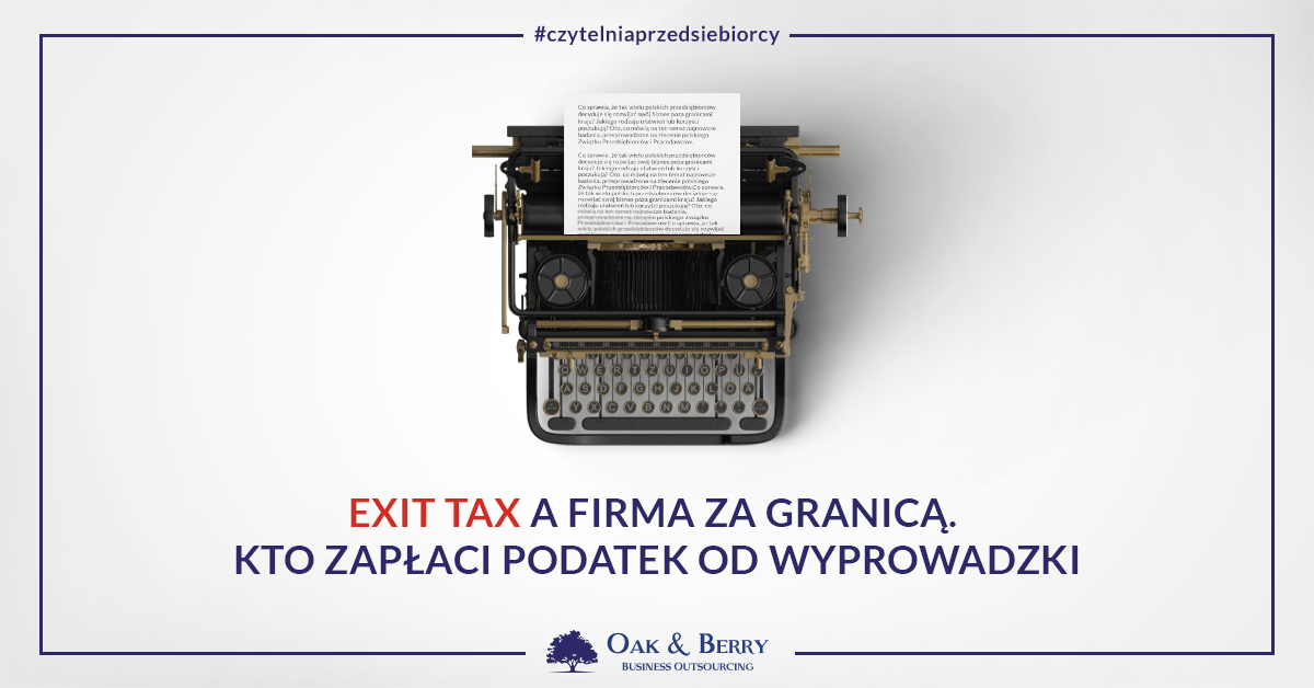 Exit tax a firma za granicą, exit tax a firma w UK. Prowadzisz lub chcesz zarejestrować działalność w Wielkiej Brytanii? Sprawdź, czy zapłacisz exit tax